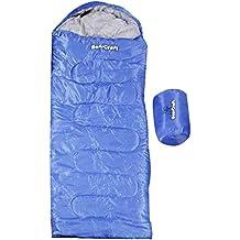 BearCraft Saco de Dormir | Perfecto para Viajar, para la Primavera, el Verano y el Otoño | Tipo Momia