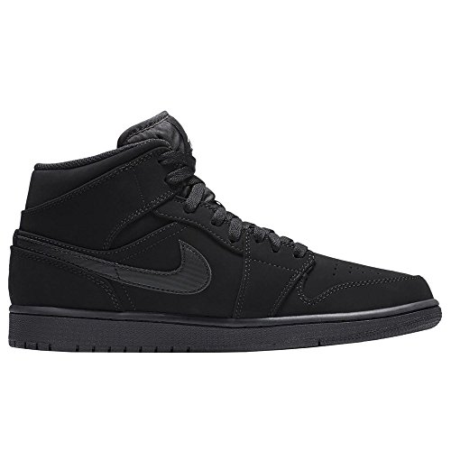 Nike Air Jordan 1 Mid, Scarpe da Basket Uomo Nero (Black/White/Black)