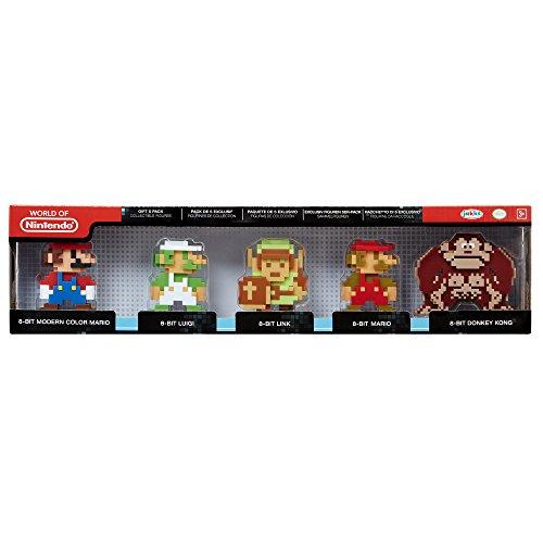 Jakks Pacific–0–Nintendo–Pack mit 5Mini-Figuren, 6cm–Serie 2