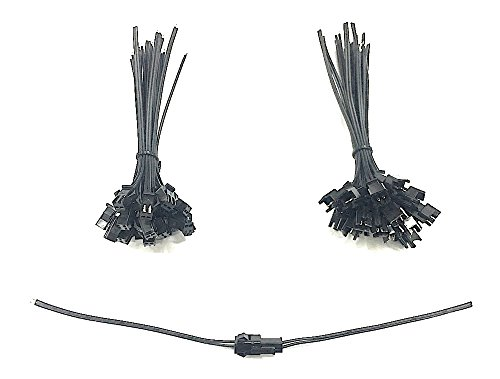 Skelshop 2 Pin Connectors Female and Male with Wire -20 Pieces (10 Male, 10Female) at amazon