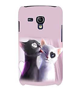 printtech Heart Eyes Cats Couple Love Back Case Cover for Samsung Galaxy S3 Mini::Samsung Galaxy S3 Mini i8190