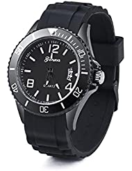 Relojes de automaticos Sannysis reloj análogo de Silicona, reloj de pulsera de fecha (Blanco)