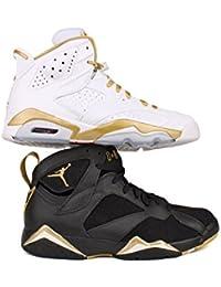 Mens Air Jordan 6 momentos MÃ © daille de oro Golden-535357-935, 9,5 mm, (MULTI-COLOR/MULTI-COLOR), 43