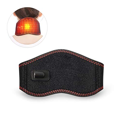Woolala - fascia scaldacollo elettrica, riscaldamento a infrarossi, per sollievo dal dolore cervicale o rigidità, con temperatura regolabile e alimentazione usb