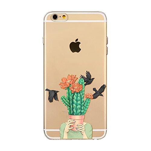"CoqueiPhone 6S Etui Housse,BoomTeck Coque Pour 4.7"" Apple iPhone 6S/iPhone 6 Silicone Souple Transparente Motif Clear Ultra Mince Anti Choc Anti-rayures Gel TPU Etui Protection Bumper Case - Vacances 20"