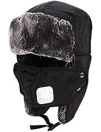 b4893f9bc4eb4 Pasamontañas esquí unisex grueso cálido resistente al viento máscara  completa Ushanka Trapper Rusia sombrero sintética orejera