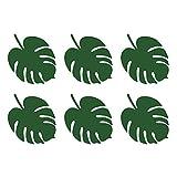 6 Stk Tischkarten BLÄTTER grün Namenskarten Platzkarten Papierkarten Hochzeit Karibik Beach ALOHA Party Deko 14x11cm leaves