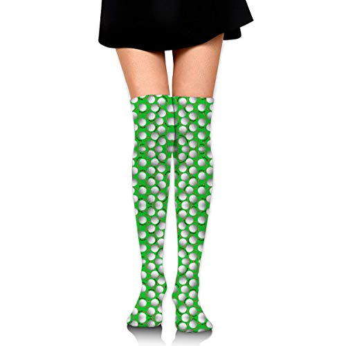 0892fc4b6 DGHKH Golf Balls and Tees On Green Giftwrap Novelty Socks Tall Socks Knee  High Graduated Compression Socks for Unisex