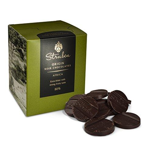Preisvergleich Produktbild Struben Afrika 80% - Dunkle schokolade / Kräftige Säuren mit einer starken,  andauernden Intensität - Jede Struben Herkunftsschokolade hat seine originale und vielschichtige Aromenvielfalt.