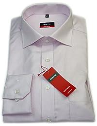 ETERNA Herren Langarm Hemd Modern Fit rosa / weiß strukturiert Brusttasche 4546.52.X187