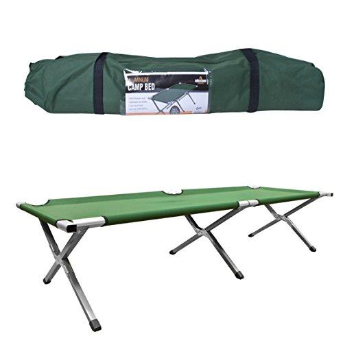 Milestone Camping Cama de campaña Plegable Verde