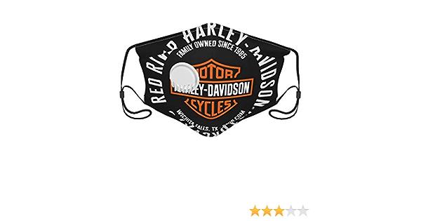 Harley Davidson Logo Mund Und Nasenschutz Wiederverwendbare Bandana Half Face Mundschutzhülle Waschbar Dehnbar Einstellbare Länge Auto