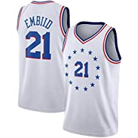 CRBsports Joel Embiid, Camiseta De Baloncesto, 76ers, Earned Edition, New Fabric Embroidered