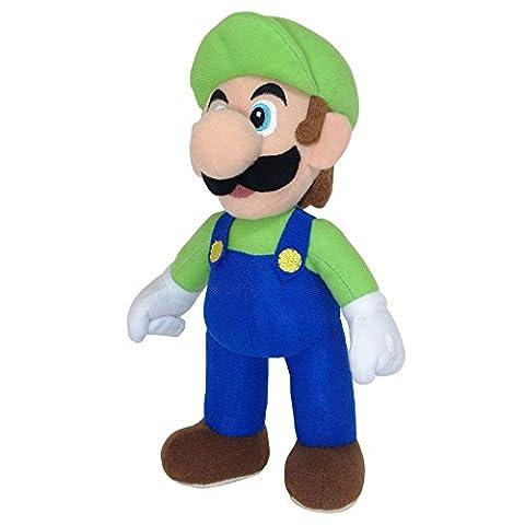 Super Mario - AGMSM6P-01L - Peluche - Nintendo Luigi - 20 cm