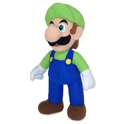 Preisvergleich Produktbild Super Mario AGMSM6P-01L - Offiziell lizenzierte Nintendo Luigi Plüschfigur, 20 cm, grün