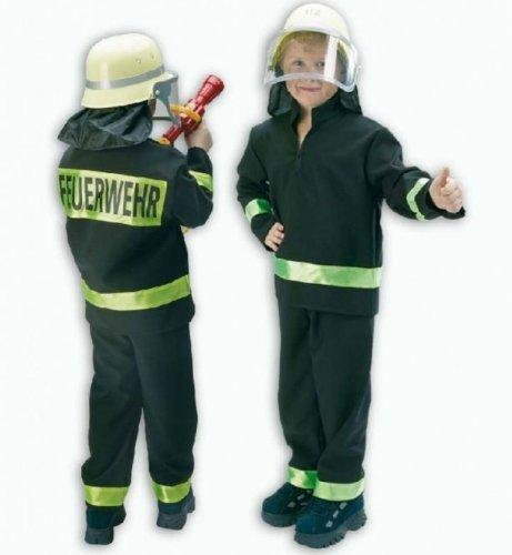 feuerwehrmann kostuem 116 Fasching Karneval Feuerwehr Einsatz Uniform 2 - teilig Gr. 116