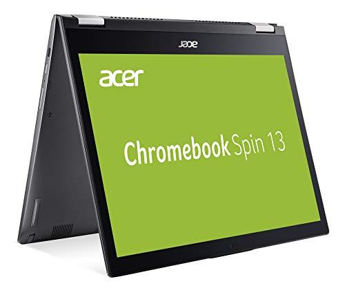 Acer Chromebook Spin 13 (13,3 Zoll QHD IPS Multi-Touch, 360° Convertible, Aluminium Unibody, 17mm flach, extrem lange Akkulaufzeit, schnelles WLAN, beleuchtete Tastatur, Google Chrome OS) Anthrazit