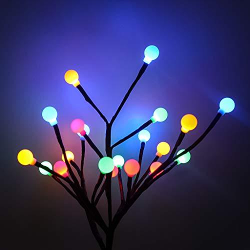 Surttan Solar-Gartenlichter, 20 LED-Solarkugel, Baum Licht, Hof, Außen, Rasen, Dekoration, mehrfarbig, 6.5m (Lumineuse Halloween Guirlande)