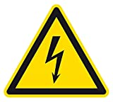 Warnzeichen - Warnung vor elektrischer Spannung - Kunststoff - 20 x 20 cm