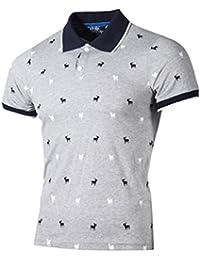 79bfbd70 Men Polo Shirt HEHEM Fashion Personality Men's Summer Casual Slim Short  Sleeve T Shirt Top Blouse