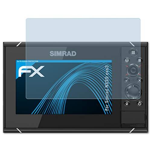 atFoliX Lámina Protectora de Pantalla Compatible con Simrad NSS9 evo3 Película Protectora, Ultra Transparente FX Lámina Protectora (3X)