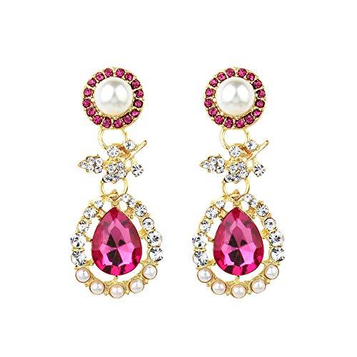 JUSTSELL ▾ Ohrringe - Neue Heiße Ethnische Wind Drop Ohrringe Diamant Ohrringe Saphir Rubin Diamant Ohrringe Perlenohrringe Cocktailparty-Zubehör Für ()