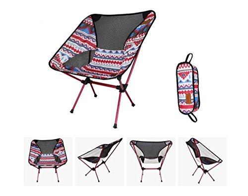 TTYY Lune chaise extérieure chaise pliante en alliage d'aluminium pêche Camping 2 PCS (s'il vous plaît laissez un message si vous avez besoin d'une couleur différente) , Rouge