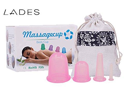 Ventouses Tasses – 4 tailles anti cellulite en silicone cou visage Corps de massage ventouses Tasses