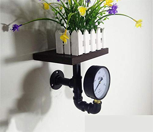 DOUERDOUYUU Fit für Zuhause Bücherregal Retro Wohnzimmerblume nimmt einfache hölzerne Möbelkunst-Bücherregale auf