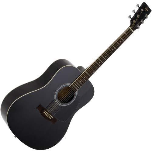 VGS D-10 schwarz Westerngitarre