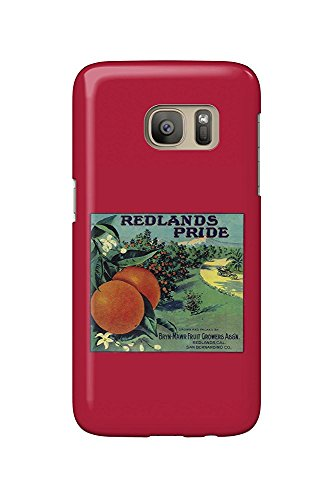 Redlands Pride Orange - Vintage Crate Label (Galaxy S7 Cell Phone Case, Slim Barely There) - Orange Crate Label