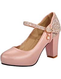 Amazon.es  11 6 - 38   Zapatos de tacón   Zapatos para mujer ... 12b63d9b5d80