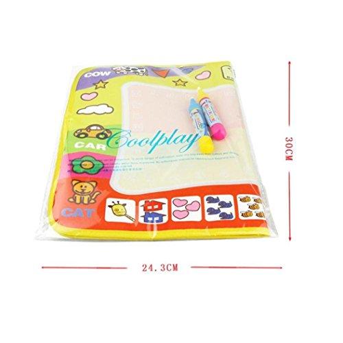 Koly Magic Pen Doodle del Aqua de los niños los juguetes del dibujo Mat juguete educativo Mat 1 + 2 Wate