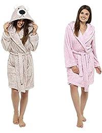Ladies Cosy Lilac Zip Up Fleece Dressing Gown// Housecoat//Robe Sizes 10-26