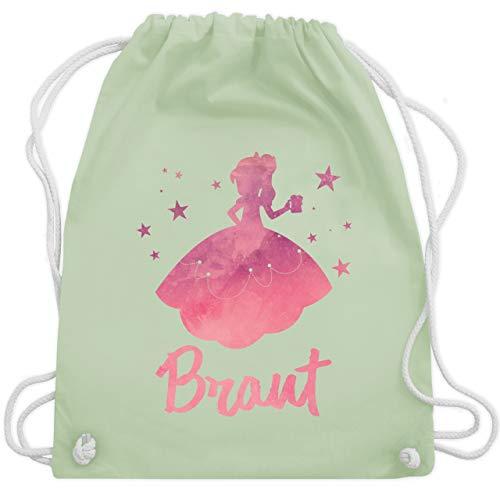 bschied - JGA Prinzessin - Braut - Unisize - Pastell Grün - WM110 - Turnbeutel & Gym Bag ()
