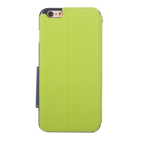 Phone case & Hülle Für iPhone 6 Plus / 6s Plus, Roar Cross Texture Flip Leder Tasche mit Halter & Card Slot & Caller ID Fenster ( Color : Green ) Green