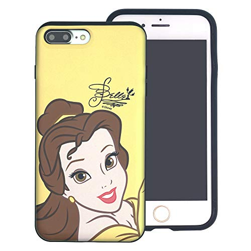 hone 6S / iPhone 6 (4,7 Zoll) Disney Princess Layered Hybrid [TPU + PC] Stoßdämpfung Bumper Cover für [iPhone 6S / iPhone 6 (4,7 Zoll) ], Face Belle (iPhone 6S / iPhone 6) ()
