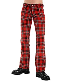 Black Pistol Tartan Pants Red-Green