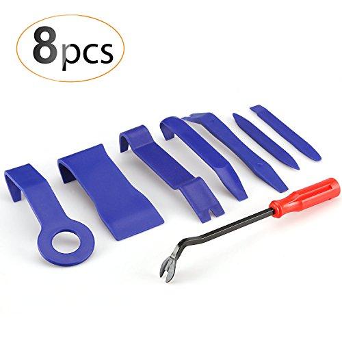 AGPTEK 8PCS Coche Herramientas de Desmontaje Kit para Desmontar el Audio Vehículo Interior Recubrimiento Desmontaje