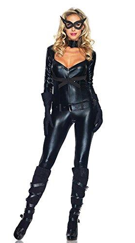 NEIYI Frauen Sexy Leder Halloween Dessous Kostüm Catwoman -