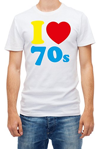 Men's I Love the 70s T-shirt, S to XXL