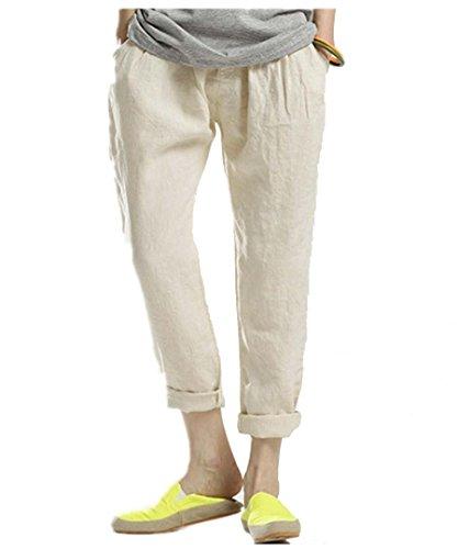 Bestor Fashion da donna cotone misto lino Candy Color Collant