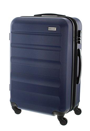 100% ABS Hartschalen Koffer / Trolley mit 4 Rollen und Zahlenschloss 3 Farben, Pianeta Serie London (70cm (XL) Blau)