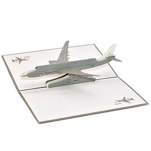 medigy 3d Pop Up avión de tarjetas de felicitación en blanco tarjetas para más occastions