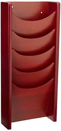 Safco 5 Pocket Holz Zeitschriftenhalter, 11,75 Zoll (B x L): H 24 cm, Mahagoni, 4330MH Mahagonifarben