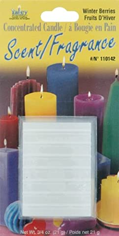 Concentrated Candle Scent 3/4 Ounce Blocks-Winterberries-Balsam, Woods, Spice, Musk by Yaley