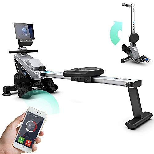 Bluefin Fitness Blade Heim-Gym Zusammenklappbares Rudergerät | Anpassbarer magnetischer Widerstand | 8 x Intensitäts-Stufen | Reibungsloser Riemenantriebe | Smartphone-App