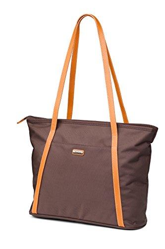 Melvin Handtasche / Aus Polyester mit Gürtel aus Leder / Große Kapazität / Tasche mit mehrere Fächer (Nicole-handtaschen-shop)