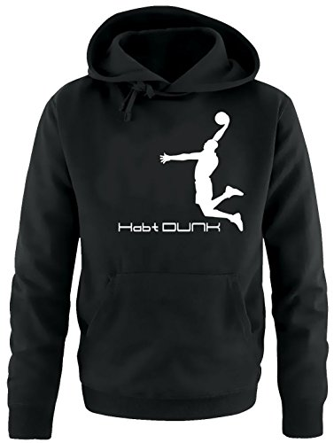 Habt DUNK Basketball Slam Dunkin Kinder Sweatshirt mit Kapuze HOODIE schwarz-weiss, Gr.164cm