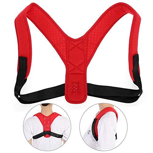 Haltungskorrektur mit, verstellbarem Gurt, Atmungsaktives Material für Frauen und Männer, das Stress abbaut und die Haltung korrigiert(Rot)